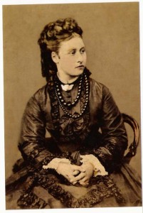 Louise, with Pre-Raphaelite accessories.