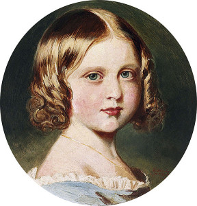 Louise as a child, by Queen Victoria after Franz Xavier Winterhalter.