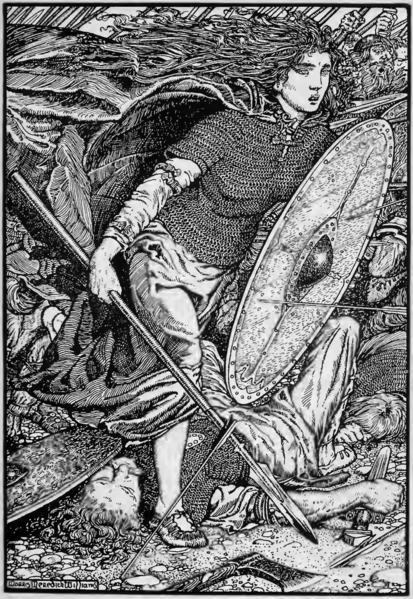 Shieldmaiden Lagertha by Morris Meredith Williams (1913)