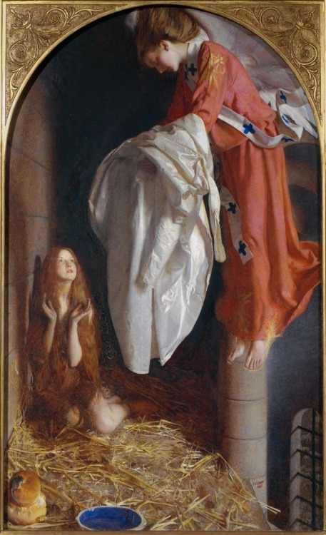 Frank Cadogan Cowper - St Agnes in Prison Receiving from Heaven the 'Shining White Garment'