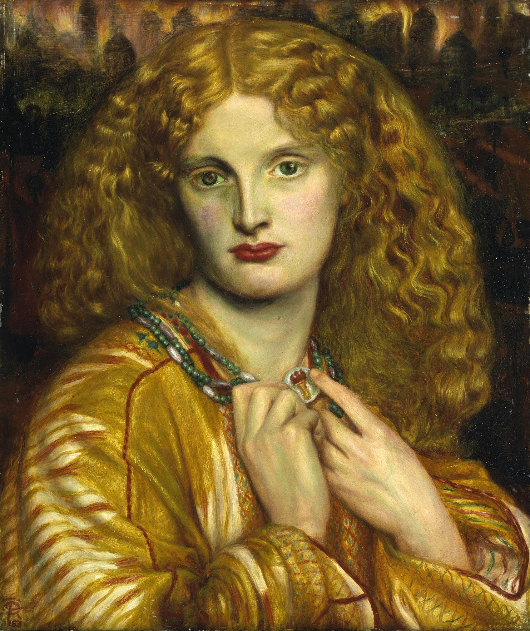 Dante Gabriel Rossetti's Helen of Troy. 1863.
