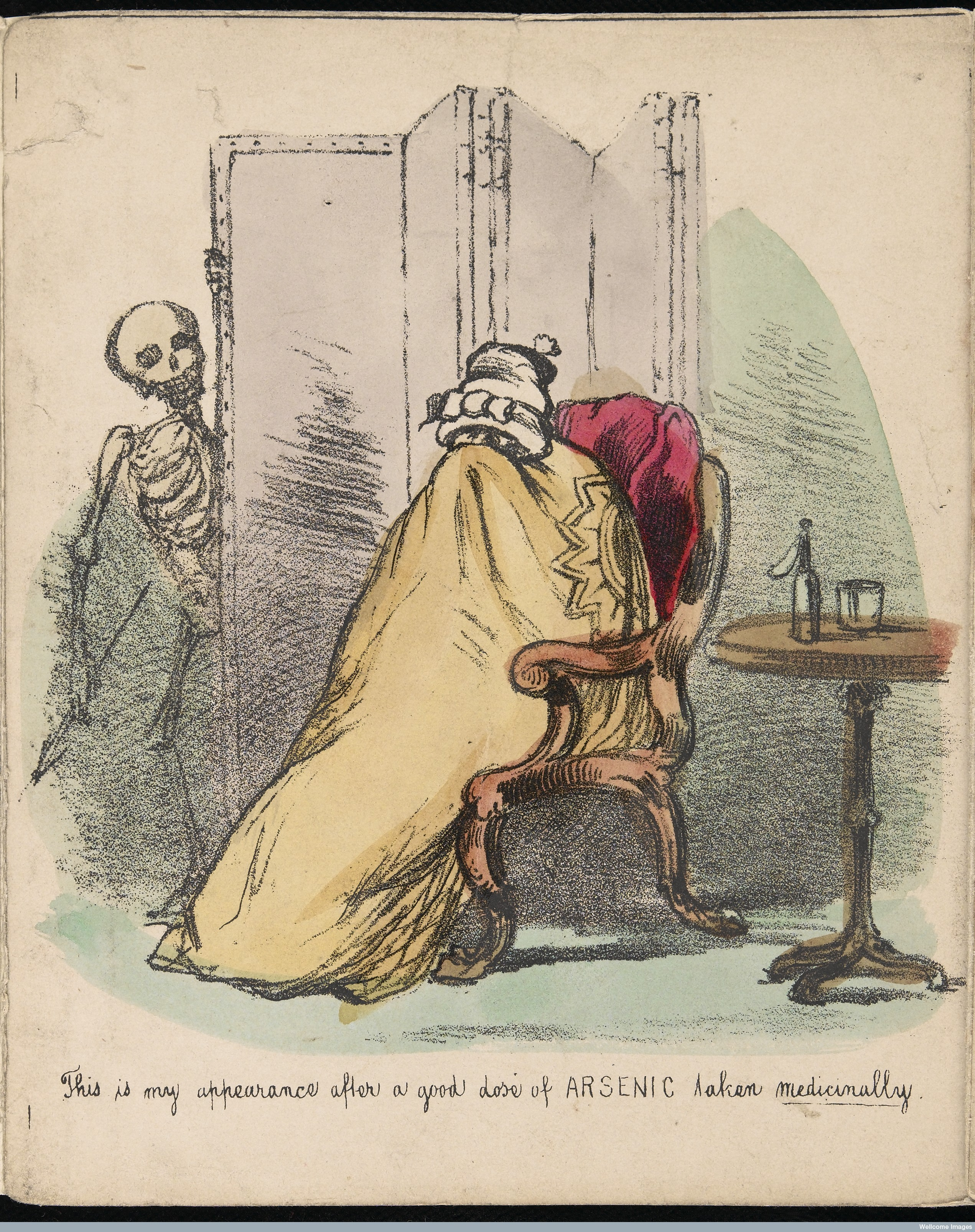 A patient suffering adverse effects of arsenic treatment - Wellcome Collection
