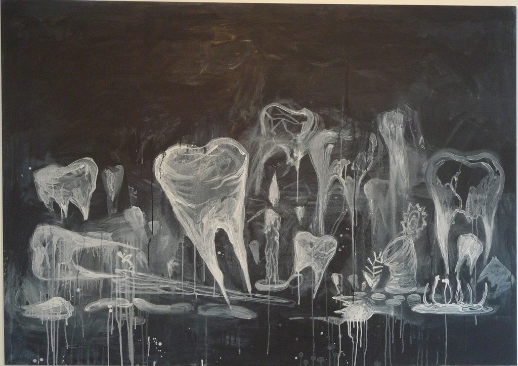 Untitled (Ghost Teeth), 2008 Manuel Ocampo Acrylic on canvas