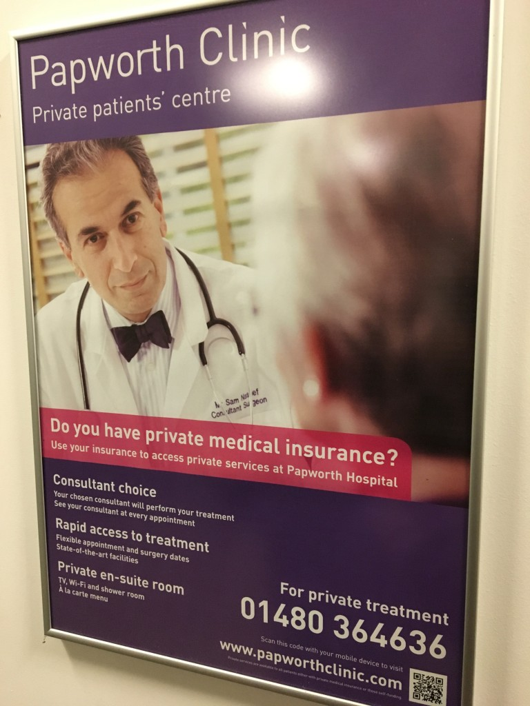Mister Nashef is literally the poster boy for the hospital, incidentally.